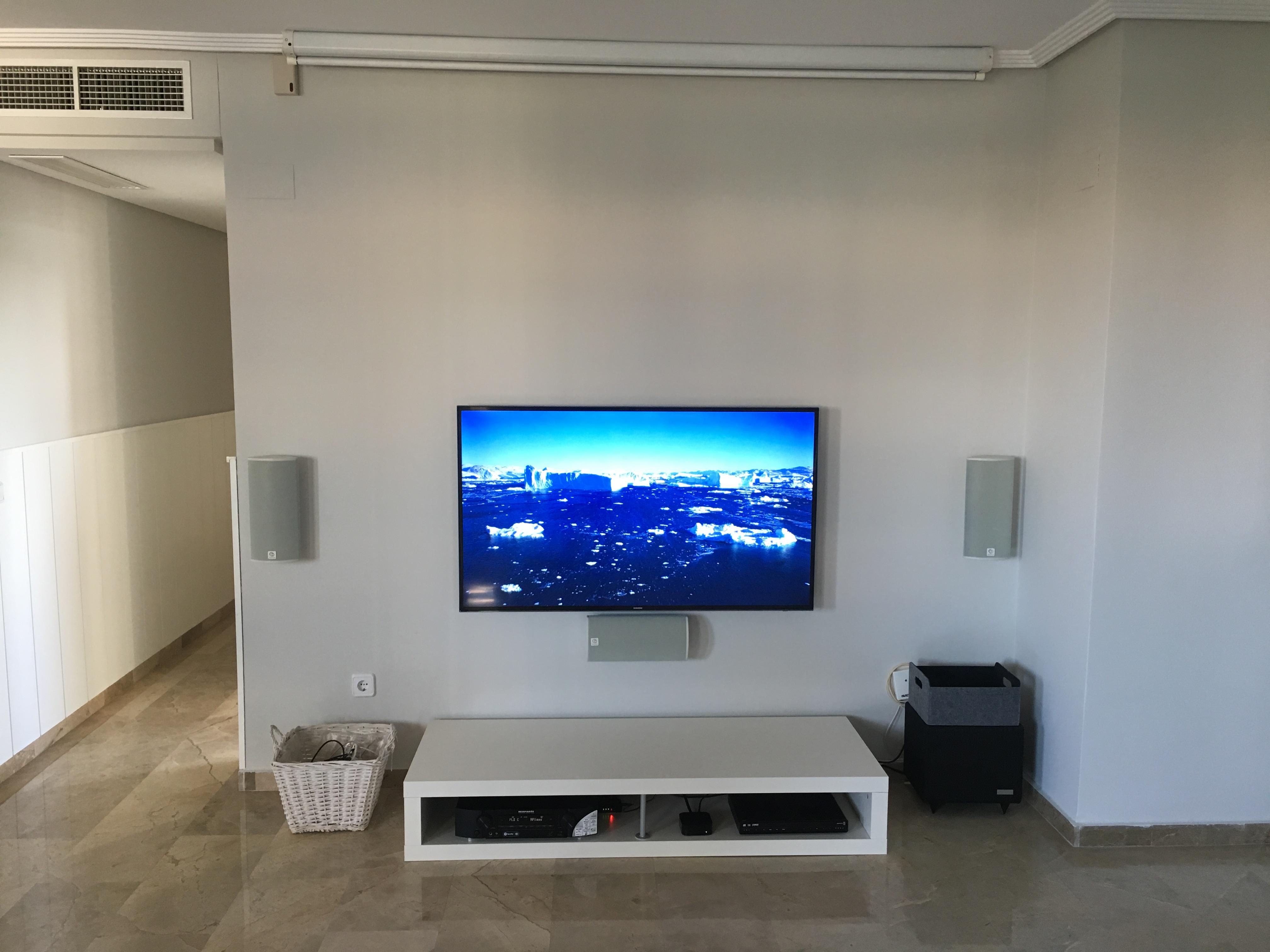 tv en pared
